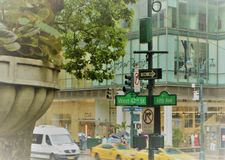 42nd Fifth Avenue gatatecken Royaltyfri Fotografi