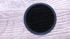 Nd-filter voor cameralens stock video