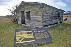 2nd Gallatin miasta miasto widmo, 3 rozwidlenia, MT przy początkiem Missouri rzeka Obrazy Stock