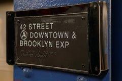 42nd gata i gångtunnelen Fotografering för Bildbyråer