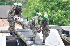 Task Force And Disaster Assistance. This is the task force and disaster assistance from Switzerland. (Locally known as the Einsatzkommando Katastrophenhilfe Stock Image