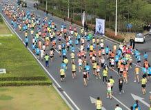 The 2nd International Marathon runner Stock Image