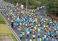 The 2nd International Marathon runner Royalty Free Stock Photo