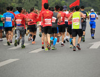 The 2nd International Marathon runners Stock Image