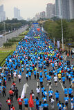 The 2nd International Marathon runners Stock Photo