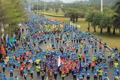 The 2nd International Marathon runners Royalty Free Stock Image