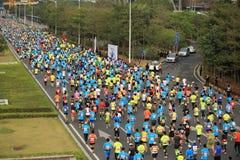 The 2nd International Marathon runners Stock Images