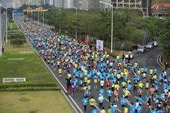 The 2nd International Marathon runners Stock Photos