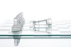 Ändå litet utför stort, enhet är styrka, schack Arkivfoton