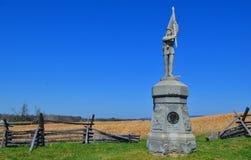 132nd monumento de Pensilvânia - campo de batalha nacional de Antietam Foto de Stock Royalty Free