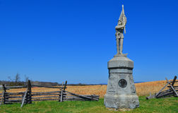 132nd monumento della Pensilvania - campo di battaglia nazionale di Antietam Fotografia Stock Libera da Diritti