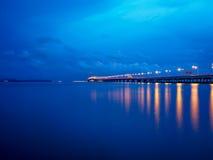 2nd Penang Bridge at Penang Malaysia. 2nd Penang Bridge blue sky at Penang Malaysia Royalty Free Stock Image