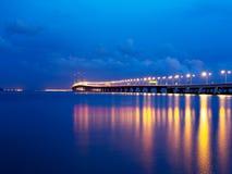 2nd Penang Bridge at Penang Malaysia. 2nd Penang Bridge blue sky at Penang Malaysia Stock Photography