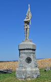 132nd Pennsylvanis步兵纪念碑- Antietam全国战场,马里兰 图库摄影