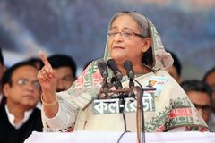 National Conference of Bangladesh Awami League Stock Photo