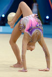 32nd Rhythmic Gymnastics World Championship. KIEV, UKRAINE - AUGUST 28, 2013: Yeon Jae Son of Korea in action during the 32nd Rhythmic Gymnastics World Royalty Free Stock Photo