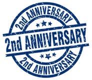 2nd rocznica znaczek ilustracji
