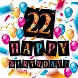 22nd Rocznicowy świętowanie projekt Obraz Royalty Free