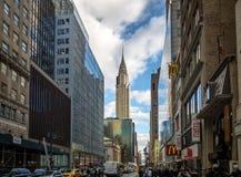 42nd rua em Manhattan - New York, EUA Fotos de Stock Royalty Free