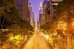 42nd rua Manhattan no alvorecer Foto de Stock