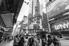 42nd rua, Midtown, Manhattan, New York City, Estados Unidos Fotografia de Stock Royalty Free