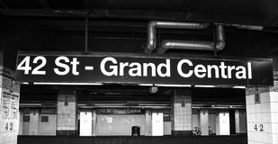 42nd st Train Sign Stock Photos