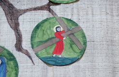 2nd Stations of the Cross, Jesus is given his cross Royalty Free Stock Photo