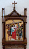 2nd Stations of the Cross, Jesus is given his cross Stock Photo