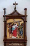2nd Stations of the Cross, Jesus is given his cross Stock Photos
