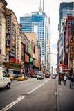 42nd street in Manhattan Stock Image