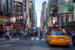 42nd street near Times Square New York. City royalty free stock image