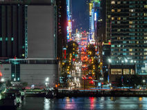 42nd street in New York City at night Royalty Free Stock Photography