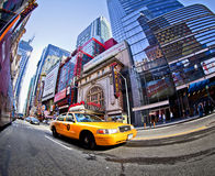 42nd Street. NEW YORK - SEPT 22: Times Square and 42nd Street  is a busy tourist intersection of neon art and commerce and is an iconic street of New York City Royalty Free Stock Photography