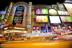 42nd Street. NEW YORK, USA - JUNE 28th 2014: Times Square and 42nd Street is a busy tourist intersection of neon art and commerce and is an iconic street of New Royalty Free Stock Photos