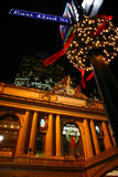 Christmas Street NYC. Christmas lights 42nd Street NYC Royalty Free Stock Images