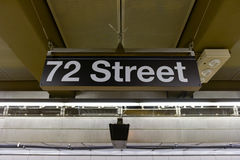 72nd Street Subway Station. On Second Avenue in New York City, New York Royalty Free Stock Photos
