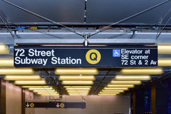 72nd Street Subway Station. On Second Avenue in New York City, New York Stock Photos
