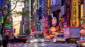 42nd Street Times Square stock video