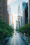 42nd Street from Tudor City, in Midtown Manhattan, New York City stock photography