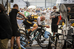 102nd Tour de France - experimentação do tempo - primeira fase Foto de Stock