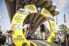 102nd Tour de France - experimentação do tempo - primeira fase Foto de Stock
