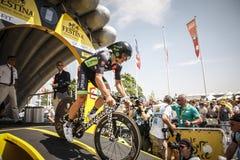 102nd Tour de France - experimentação do tempo - primeira fase Fotos de Stock