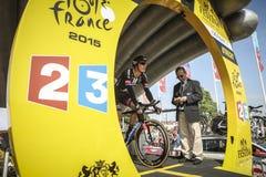 102nd Tour de France - experimentação do tempo - primeira fase Imagens de Stock Royalty Free