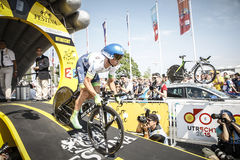 102nd Tour de France - experimentação do tempo - primeira fase Imagem de Stock