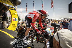 102nd Tour de France - procès de temps - première phase Photo libre de droits