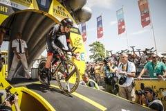 102nd Tour de France - procès de temps - première phase Images stock
