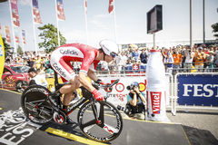 102nd Tour de France - Time Trial - First Stage Stock Photos