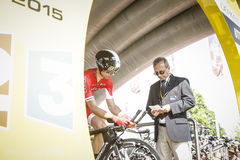 102nd Tour de France - Time Trial - First Stage Stock Images