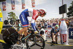 102nd Tour de France - Time Trial - First Stage. Utrecht, The Netherlands. 4th of July, 2015. Tour de France Time Trial Stage, WILCO KELDERMAN, Team Lotto Jumbo Royalty Free Stock Image