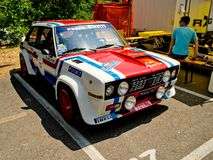 FIAT 131 Abarth at Vernasca Silver Flag 2017. 22nd Vernasca Silver Flag 2017 Royalty Free Stock Images